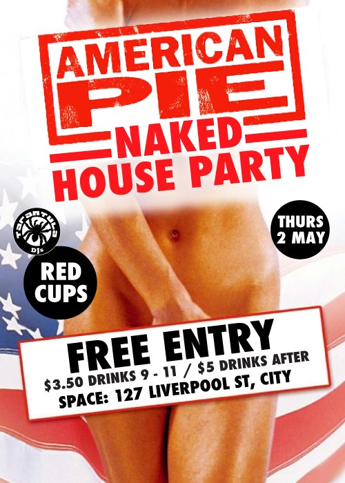 American pie Naked party redds cups