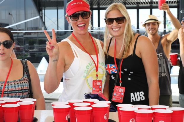 custom red cups australia day