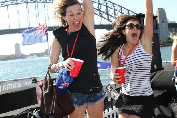 Australia day boat cruise redds cups sydney harbour