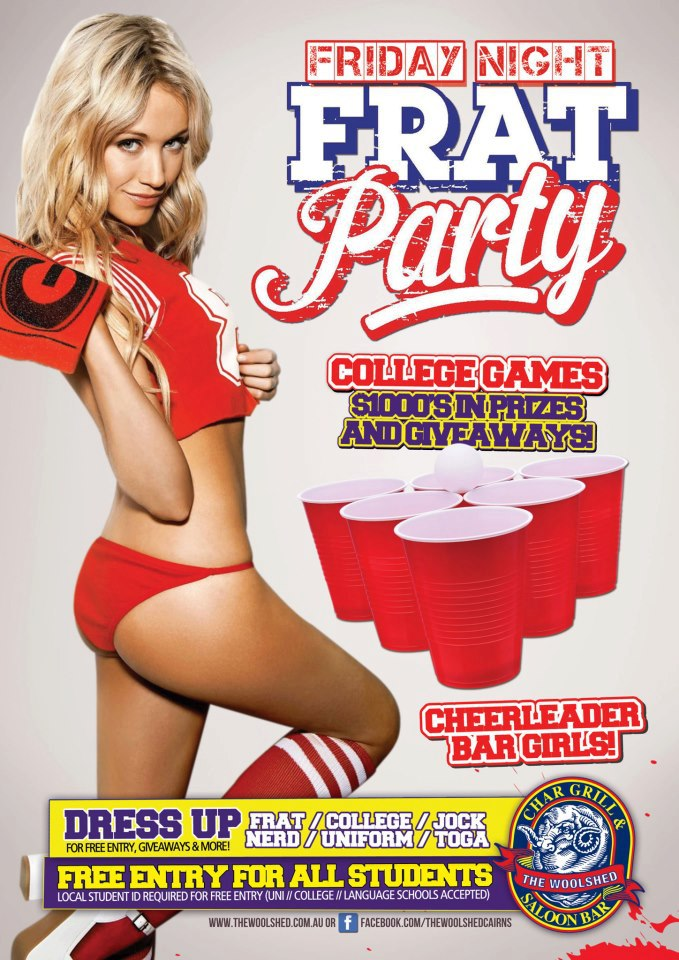 The woolshed friday night frat 03-13 redds cups