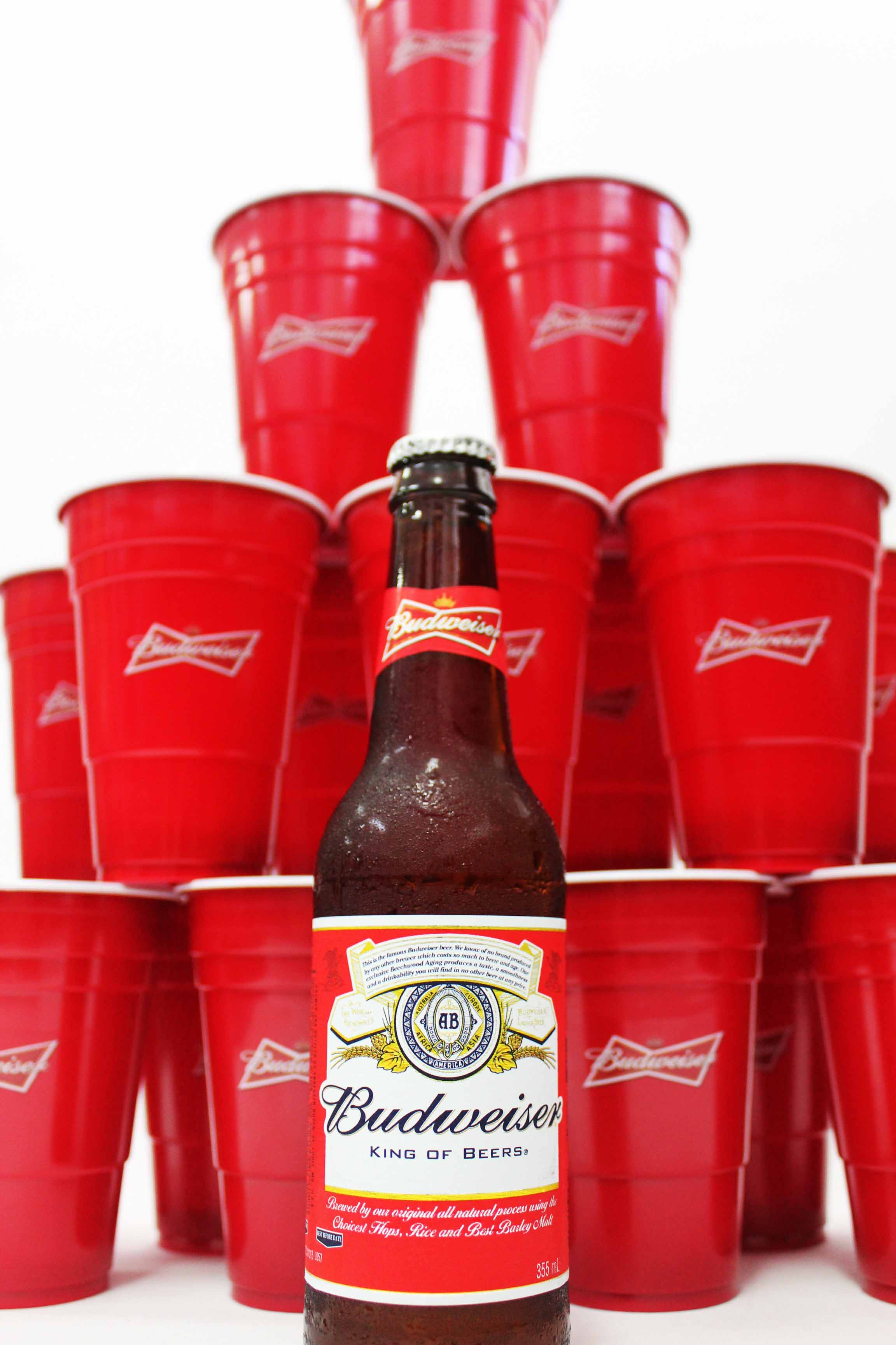 Budweiser custom red cups