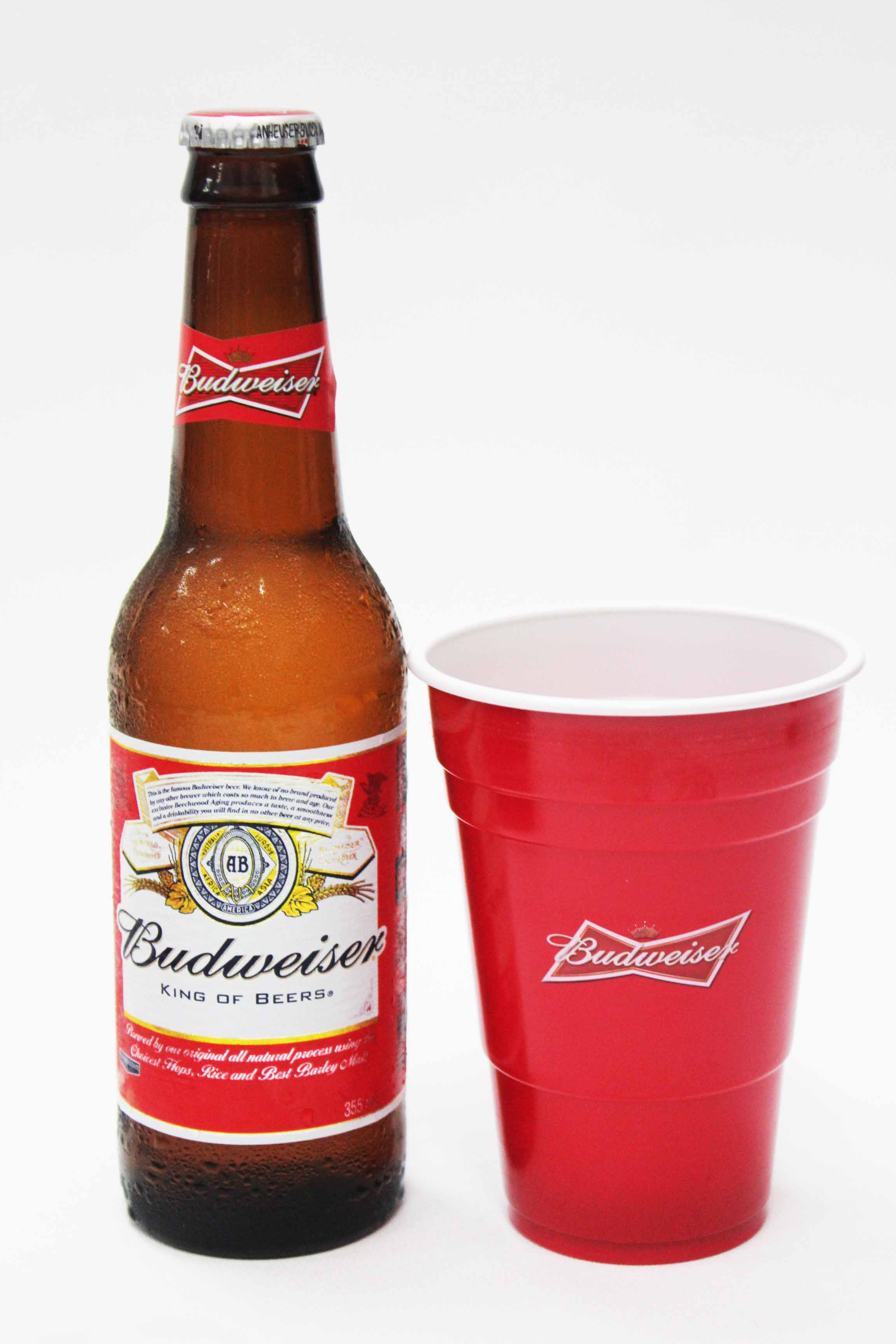 Budweiser and custom redds cups