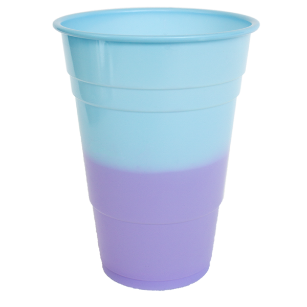 Hyper Colours Blue Purple Cups 425ml