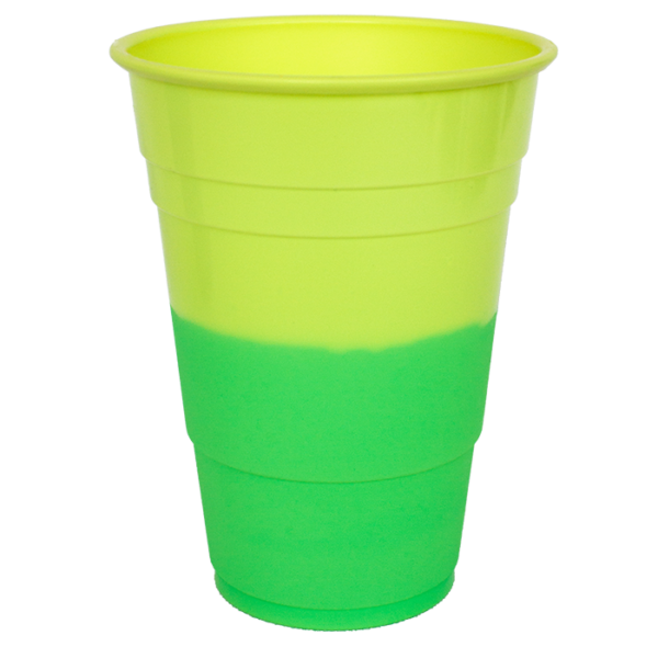 Hyper Colours Yellow Green Cups 425ml