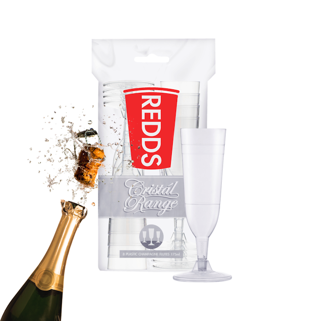 REDDS | GIFT AND PARTY IDEAS | PLASTIC CHAMPAGNE FLUTE GLASSES