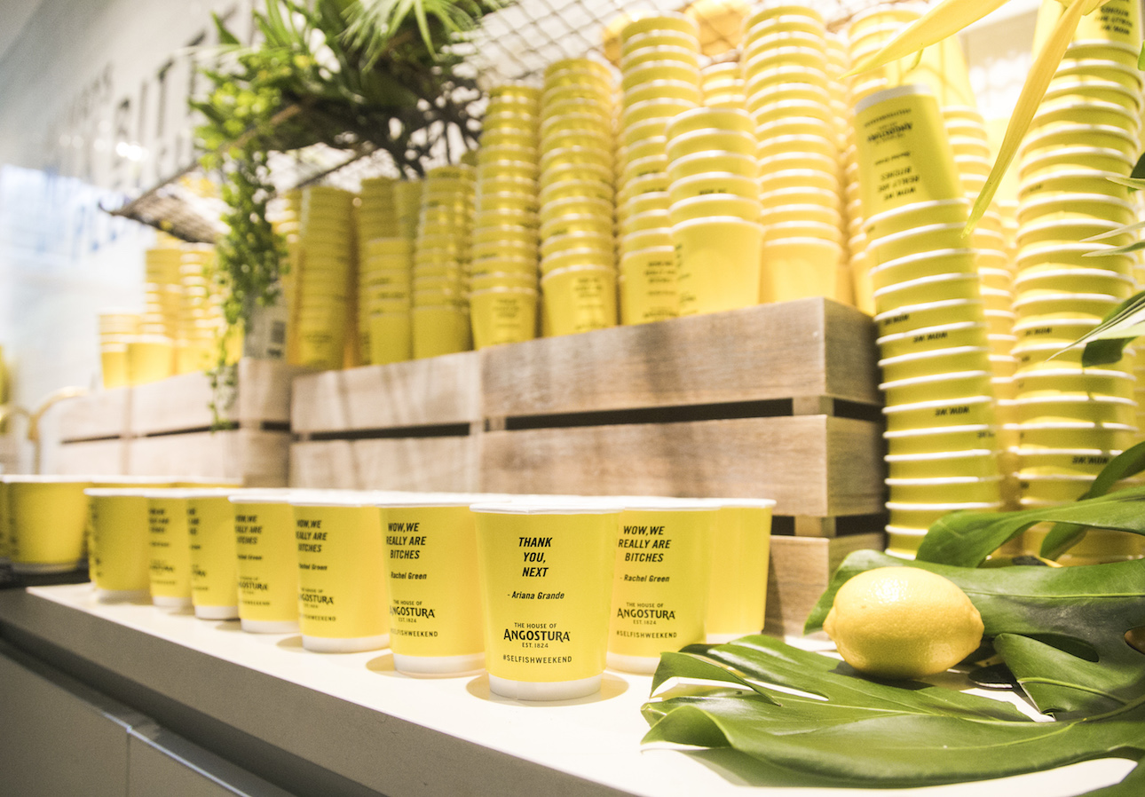 REDDS SOURCED & PRINTED | PEDESTRIAN TV SELFISH WEEKEND EVENT PAPER CUPS