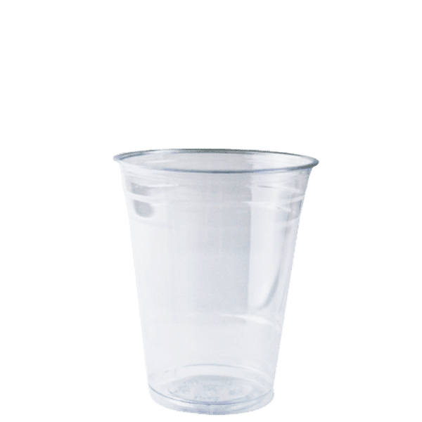 Clear 285ml PET Plastic cup 100% recyclable